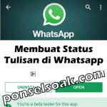Cara Membuat & Update Status Tulisan di WhatsApp