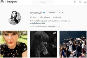 Akun Instagram dengan Follower Terbanyak Taylor Swift