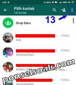 Cara Menghapus Kontak di Whatsapp 13