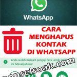 3 Cara Menghapus Kontak WhatsApp Permanent