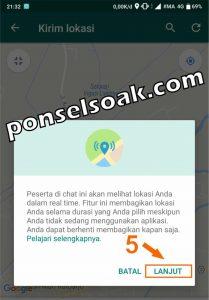Cara Share Live Lokasi Di WhatsApp 3