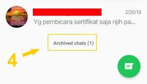 Menyembunyikan Kontak Whatsapp Menu Arsip 4