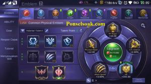 Build Emblem Akai Mobile Legends 1