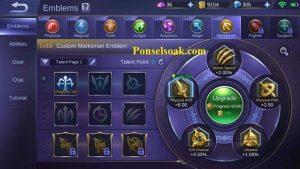 Build Emblem Miya Mobile Legends 2
