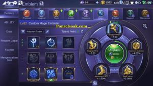 Build Emblem Pharsa Mobile Legend 2