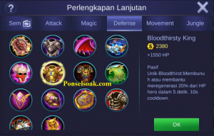 Build Gear Akai Mobile Legends 6