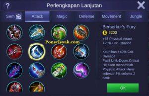 Build Gear Freya Mobile Legend 4