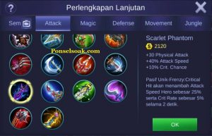 Build Gear Freya Mobile Legend 6