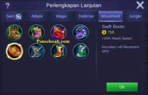 Build Gear Hanabi Mobile Legends 1