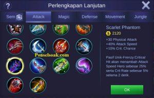 Build Gear Hanabi Mobile Legends 2