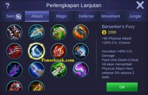 Build Gear Hanabi Mobile Legends 4