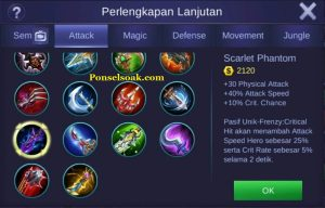 Build Gear Karrie Mobile Legends 2