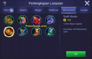 Build Gear Karrie Mobile Legends