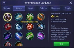 Build Gear Karrie Mobile Legends 5