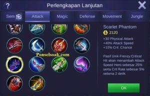 Build Gear Lesley Mobile Legends 2