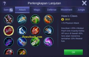 Build Gear Miya Mobile Legends 3
