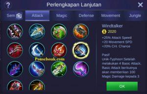 Build Gear Miya Mobile Legends 5