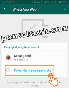 Cara Logout Whatsapp Web Dan Di Android 4