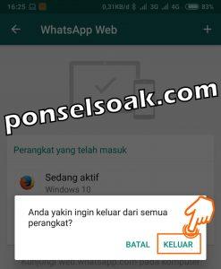 Cara Logout Whatsapp Web Dan Di Android 5