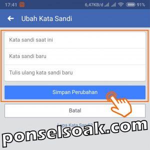 Cara Mengatasi FB di Sadap 8