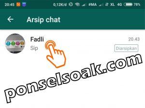 Cara Menyembunyikan Pesan WhatsApp Tanpa Menghapusnya 4