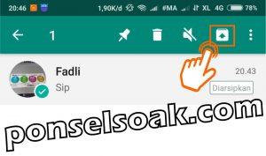 Cara Menyembunyikan Pesan WhatsApp Tanpa Menghapusnya 5