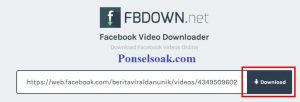 Download Video Facebook Melalui Fbdown.net 2