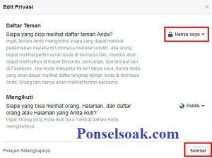 Menyembunyikan Daftar Teman Di Facebook Melalui Web 5